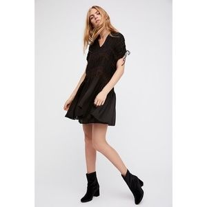 NWOT Free People Love On The Run Embroidered Dress